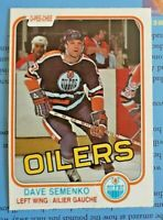 Dave Semenko 1981-82 O-PEE-CHEE Hockey Card! #121 (VGEX) Edmonton Oilers OPC Cop