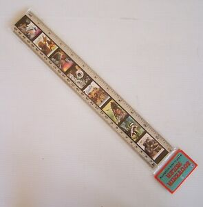 VINTAGE VANUATU STAMPS TOURIST SOUVENIR PROMO PICTURE 30cm 12-inch PHOTO RULER