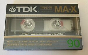 Unopened TDK MA-X 90 Cassette tape Metal Type IV Beats SA-X and MA Made in Japan
