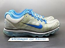 Women's Nike Air Max+ 2009 Silver Grey Blue Running Shoes 354750-016 sz 9.5