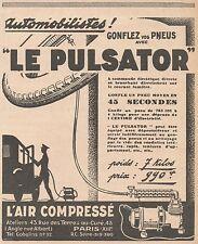 Z9013 L'Air Compressé LE PULSATOR -  Pubblicità d'epoca - 1928 Old advertising