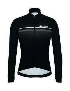 Santini Mare Long Sleeve Cycling Jersey in Black & White