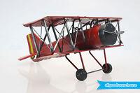 Scrap Metal Art Handmade Nuts & Bolts Vintage Sopwith Biplane Model Aircraft