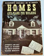 Mid-Century Fawcett Publications Homes Architect Plans for Buildings No 2 1942