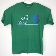 Vtg Maui Mens Xl T Shirt Green Blue Hanes 50 50 Single Stitch M11
