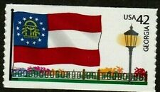 US 2008 SCOTT 4285 GEORGIA STATE FLAG 42c FLAGS OF OUR NATION SET 2 MNH VF STAMP