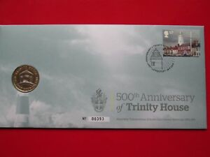Very Low Issue No.s Trinity House 2014 £2 Pound Coin and Stamp Cover PNC FDC