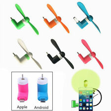 Portable Mini USB Fan For Android Apple iPhone Combo Cell Phone Mobile Dock Fan
