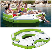Inflatable Oasis Floating Island Pool Lake Water Party Giant Lounge Raft 6Person