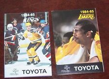 Los Angles Kings / Lakers pocket schedule  1984-85 NHL # 2