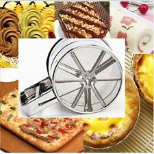 DIY Cake Icing Sugar Sifters Mesh Shaker Powder Strainer Sifter Flour Sieve