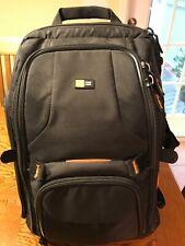 Case Logic Backpack Camera Bag, Black and Orange