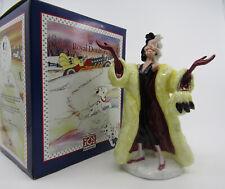 More details for royal doulton figurine - 101 dalmatians - cruella de vil - dm1 - boxed