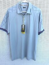 CHASE54 Mens Golf Shirt Size M Performance Polo Gray Moisture Wick UPF 40 NWT