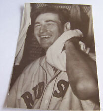 Vintage RPPC Real Photo Postcard Baseball Ted Williams Boston Red Sox Laughing