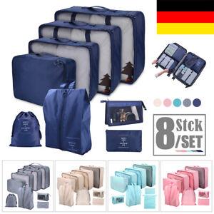 Koffer Organizer Set 8-teilig Reise Kleidertaschen Reisegepäck Kleidung Kosmetik