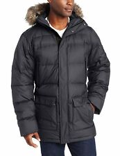 $250 Columbia Men Winter Hooded OMNI-HEAT Down jacket coat parka XL New Black