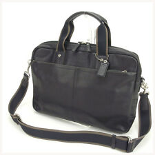 Coach Business bag Black Mens Authentic Used Y634