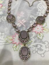 Gorgeous Antique Vintage Silver 925 Necklace With Pink Quartz And Sapphires