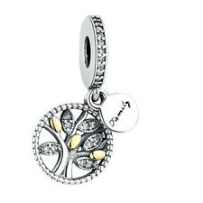 Family Tree Gold S925 Sterling Silver Charm Pendant by Pandora's Kings