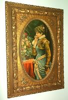 Large Antique Ornate Gilt Wood Gesso Picture Frame~Victorian 28 x 19 x 2