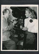EVELYN KEYES + JOSEPH WALKER DEMONSTRATING CAMERA INNOVATION -1948 JOE WALTERS