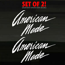 "American Made in USA Accents (2) Decal Stickers 12x7"" Graphics US America Hotrod"