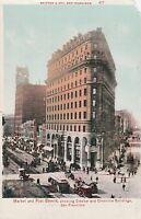 "*California Postcard-""Market & Post St.""/Crocker & Chronicle Bldgs/ S.F. (U1-62)"
