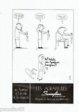 PUBLICITE ADVERTISING 096  1971  Les   Agrapheuses Swingline par Astoul