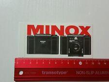 Aufkleber/Sticker: Minox Camera 35ML (120316138)