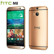 Original HTC One M8 32GB Amber Gold 4G LTE (Factory Unlocked) Smartphone