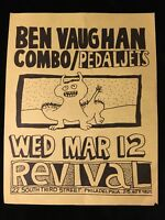 ORIGINAL PUNK CONCERT FLYER-BEN VAUGHAN COMBO-PEDAL JETS-PHILLY-1980s