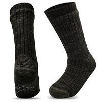 Xelay® Mens Thermal Socks 4.7 Tog Fleece Lined Slipper Gripper Lounge Socks 6-11