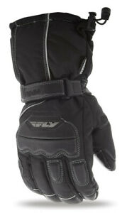 Fly Racing Mens Aurora Gloves Waterproof Touchscreen Snowmobile Black All Sizes