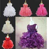 Toddler Flower Girls Princess Dress Party Wedding Birthday Tiered Tutu Dresses