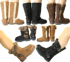 New ELLA Womans Vegan Winter Snow Warm Flat Ankle Knee Calf High Fur Lined Boots