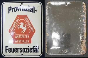 1920 Emailleschild Provinzial-Versicherungs-Anstalten Westfalen 56675