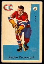 1959-60 PARKHURST #35 ANDRE PRONOVOST VG-EX MONTREAL CANADIENS HOCKEY CARD