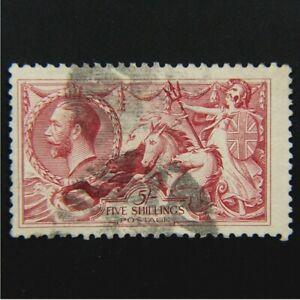 GREAT BRITAIN, George V, Scott #180, 5sh (5/-), Seahorse, Used, cv$125.