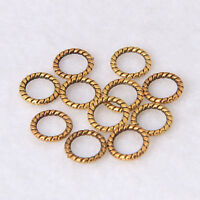 8mm Round Closed Ring Brass Charm Beads Metal Stripes Jewelry Brass Finding