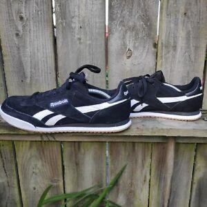 Reebok Royal Flag Trainers Black/White Size UK 11 Euro 45.5 US 12 Worn Once