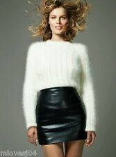 Balmain Runway AW 15 Ivory Angora Wool Sweater Jumper BNWT UK 12 FR 40 US 8 IT44
