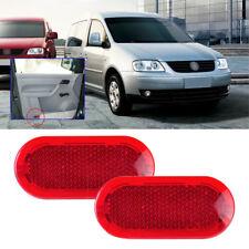 2x Red Door Panel Warning Light Reflector for VW Beetle Polo Passat Jetta Golf