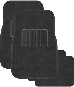 Car Floor Mats - Universal Carpet Mats - Set of 4 - Grey - Brand New