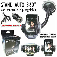 STAND SUPPORTO + CARICABATTERIE AUTO PER SAMSUNG GALAXY NOTE 2 N7000