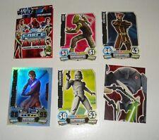 Star Wars Clone Wars Force Attax Traiding Cards Anakin, Klonkrieger + 3 weitere