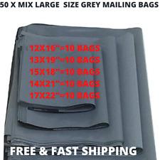 29 x 23 Grigio Blu Mailing Sacchi Buste di Plastica Self Seal POST GRANDE BORSA X 20