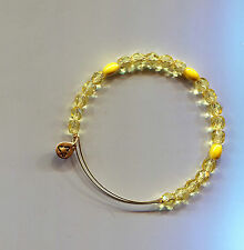 ALEX & ANI  gold yellow glass bead bracelet bangle 1
