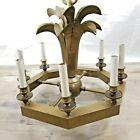 Hart Associates Brass Chandelier Leafs Ships Wheel Candlestick Boho Style