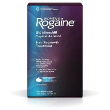 Rogaine Women's 5% Minoxidil Foam 4-month Supply Exp 08/2020+ US Seller